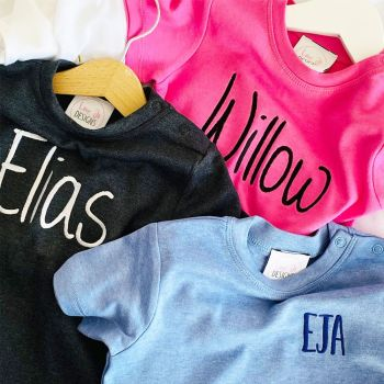 -Organic Personalised Baby Tee - 20 Colours