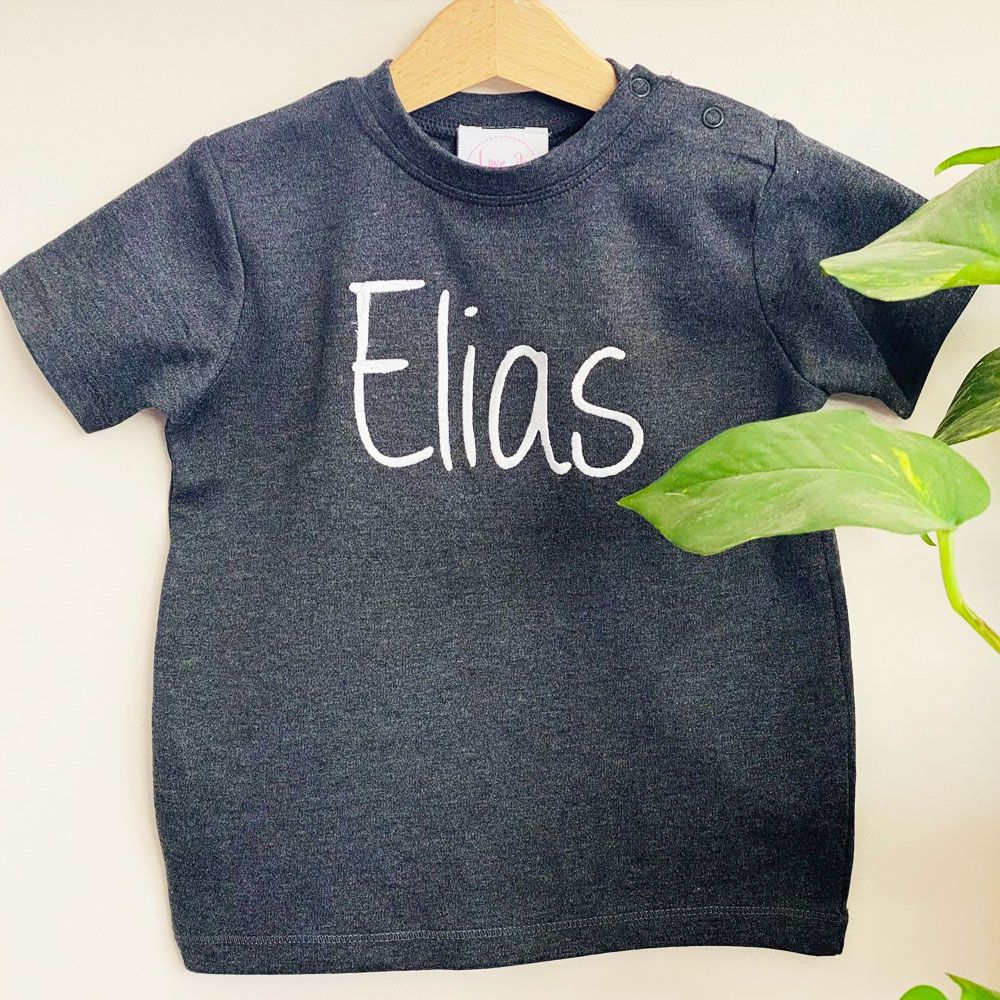 Personalised Organic Baby Tee - 20 Colours