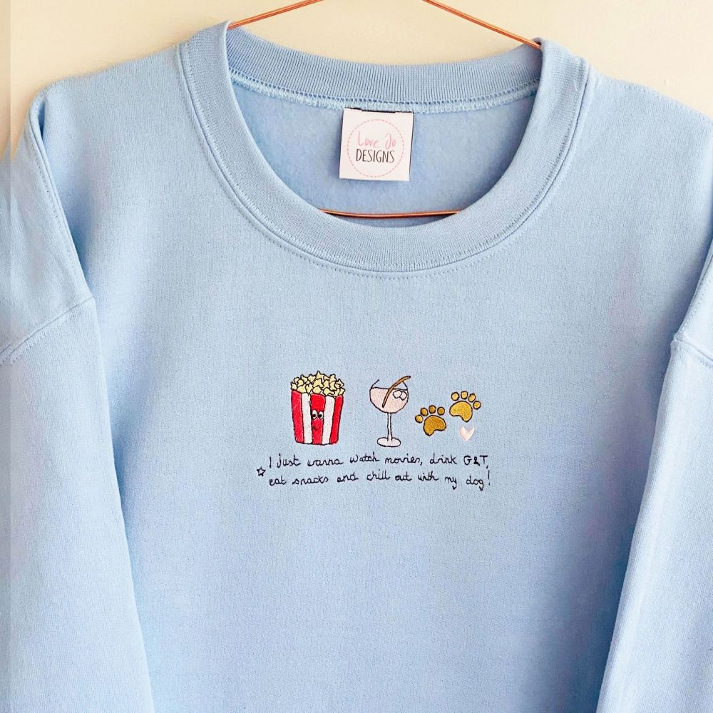 I just wanna watch movies- Sweater