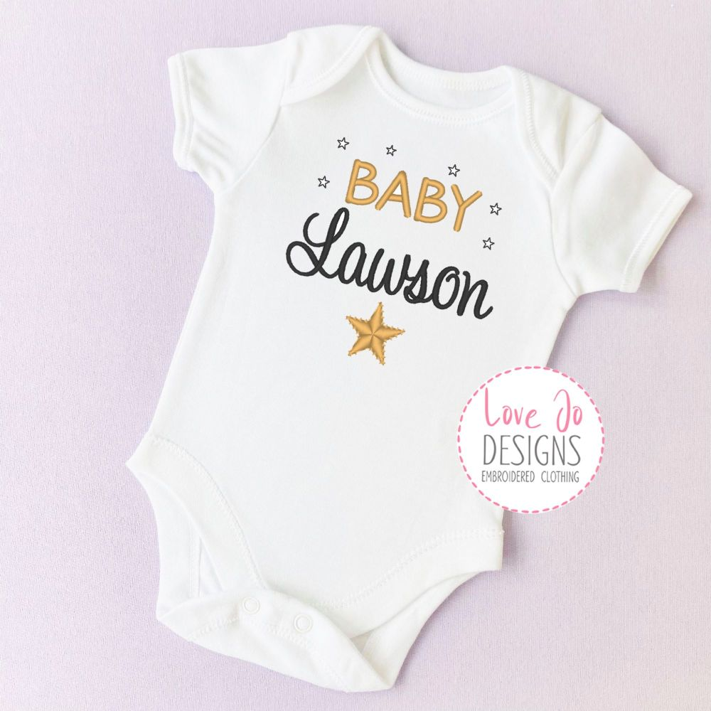 Baby Unisex Heart/Arrow Embroidered Vest
