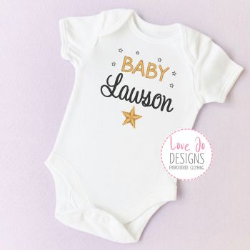 Baby Unisex Star Embroidered Vest