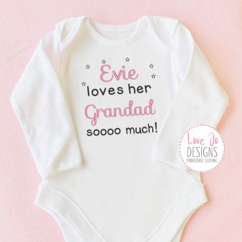 Baby Girls Embroidered Personalised Vest