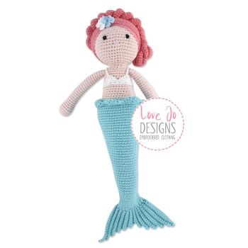 Crochet Handmade Mermaid Doll Pearl