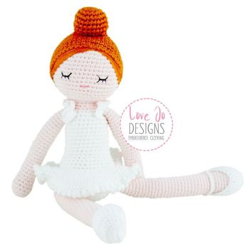 Crochet Handmade Ballerina Doll Willow