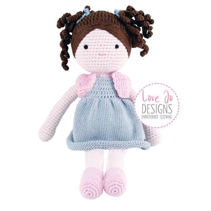 Crochet Handmade Doll Ava - Personalised