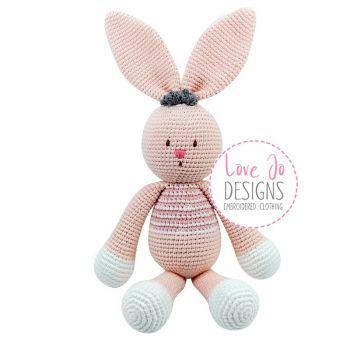 Crochet Handmade Bunny Doll Bella - Personalised