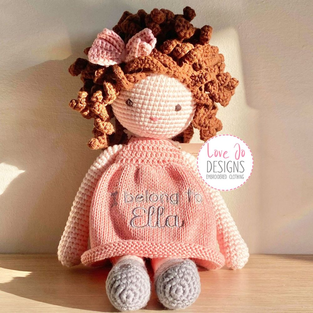 Crochet Handmade Doll Eliza - Personalised