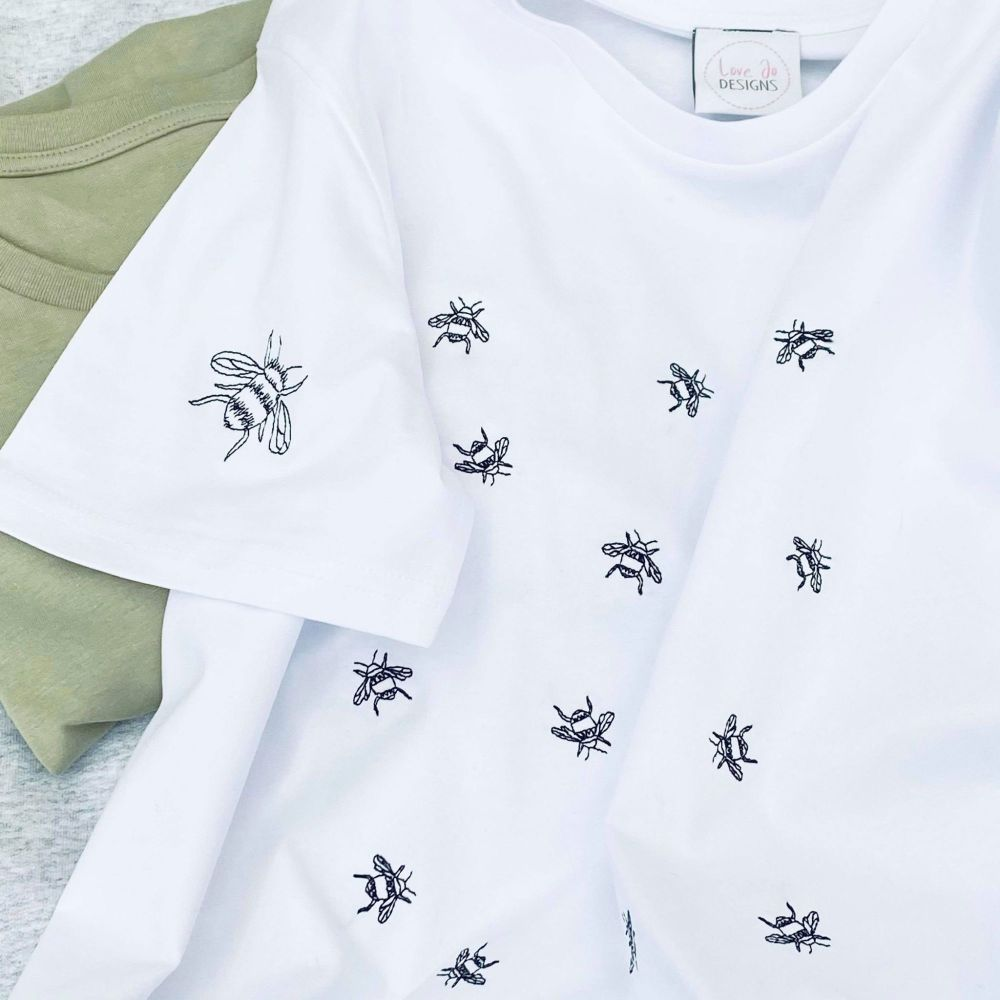 <!-- 002 --> Sunflower Sketch - Embroidered Tee