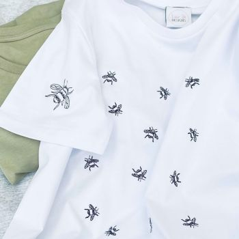 Busy Bee - Organic Embroidered Tee