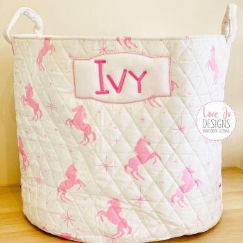 White Unicorn Storage Bag