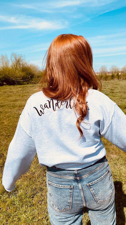 <!-- 110 -->Wanderlust Embroidered Sweatshirt