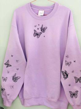 Lots of Butterflies Embroidered Sweatshirt