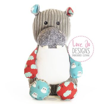 Hippo Personalised Cubby Teddy