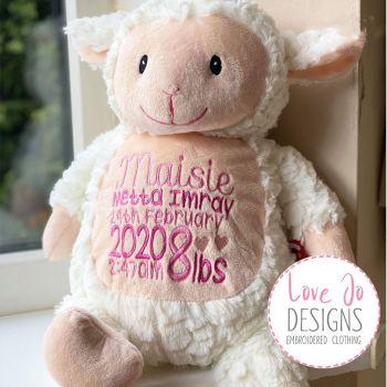 Fluffly Lamb Cubby Bunny