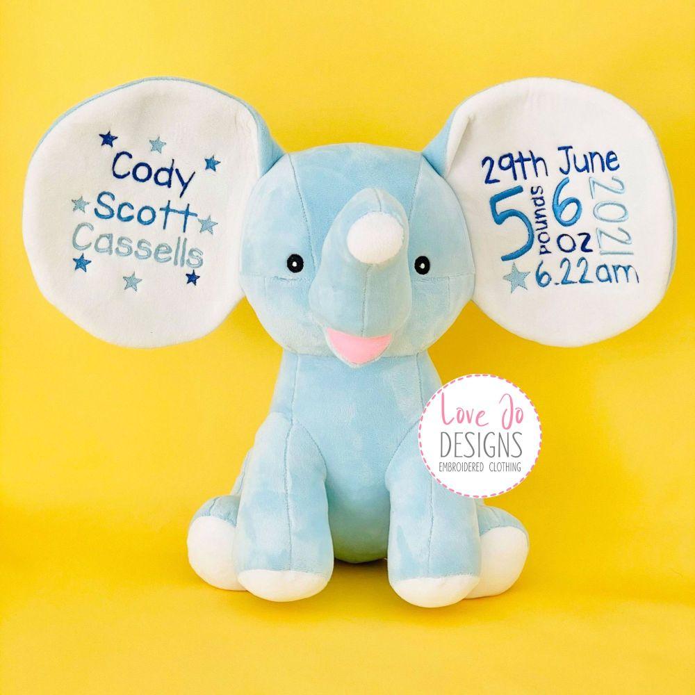Baby Blue Dumble Cubby Teddy