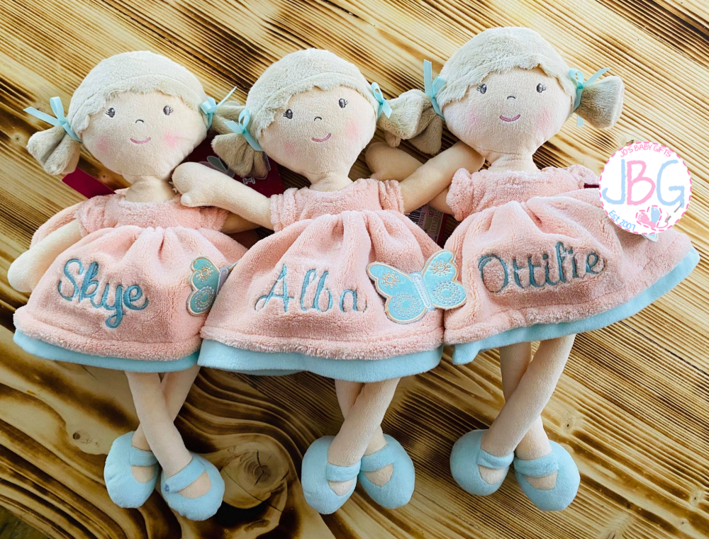 Butterfly peach  personalised doll