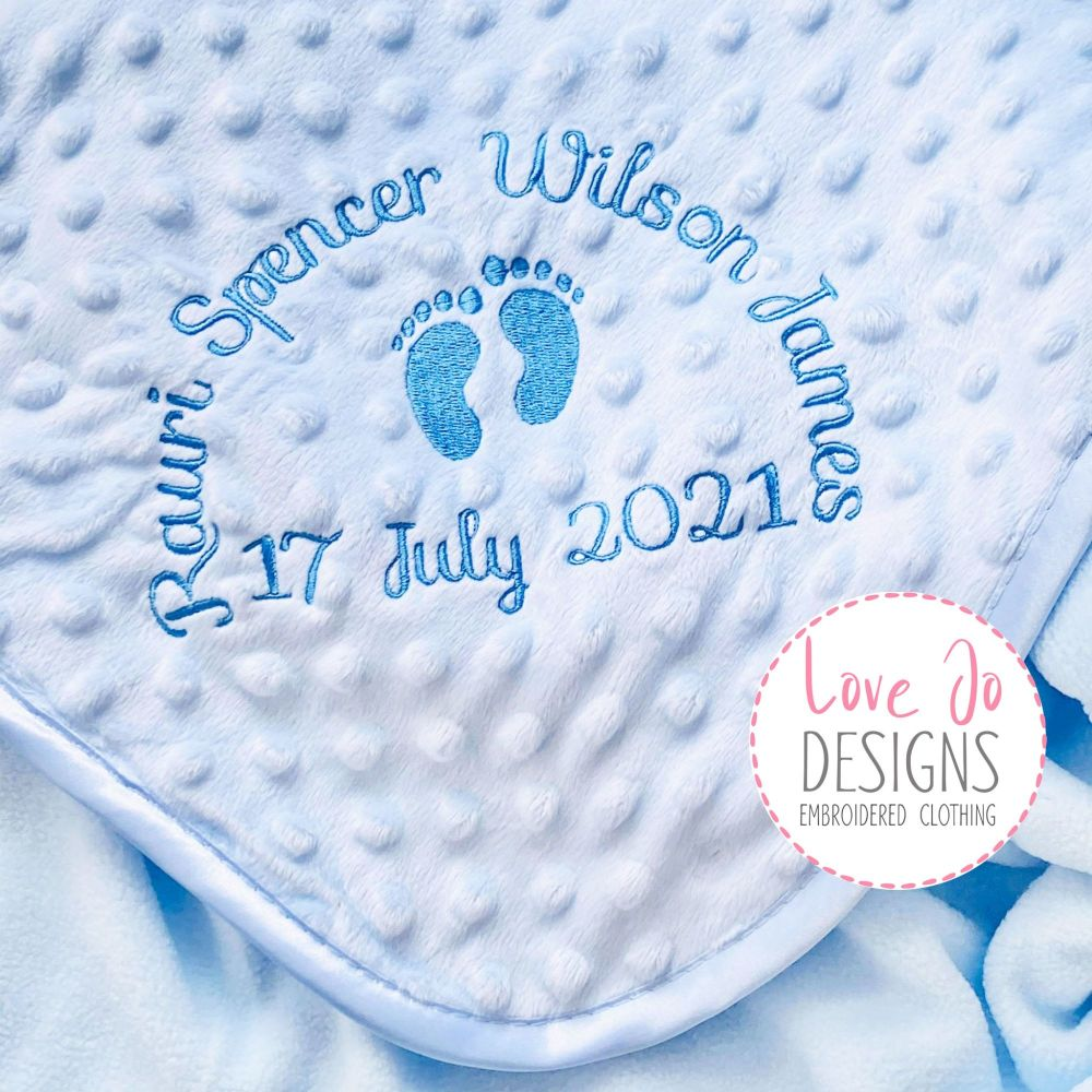 <!-- 108 --> Bubble Blue Personalised Blanket