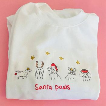 Doodle Party Pups - Embroidered Christmas Jumper