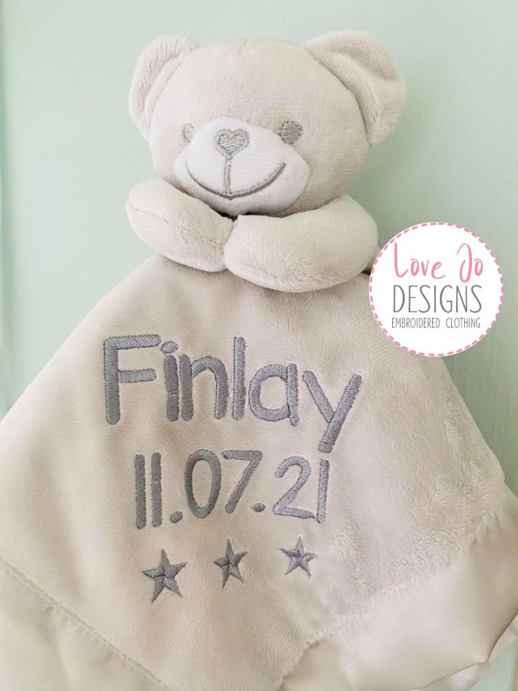 <!-- 134 -->Personalised Teddy Comforter