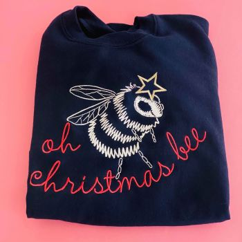 Oh Christmas Bee - Embroidered Christmas Jumper
