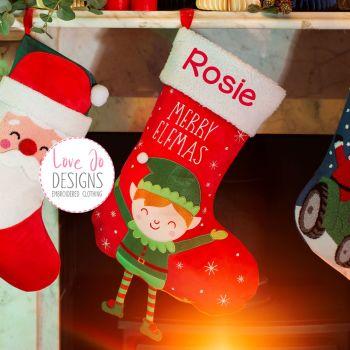 Merry Elfmas Christmas  Stocking