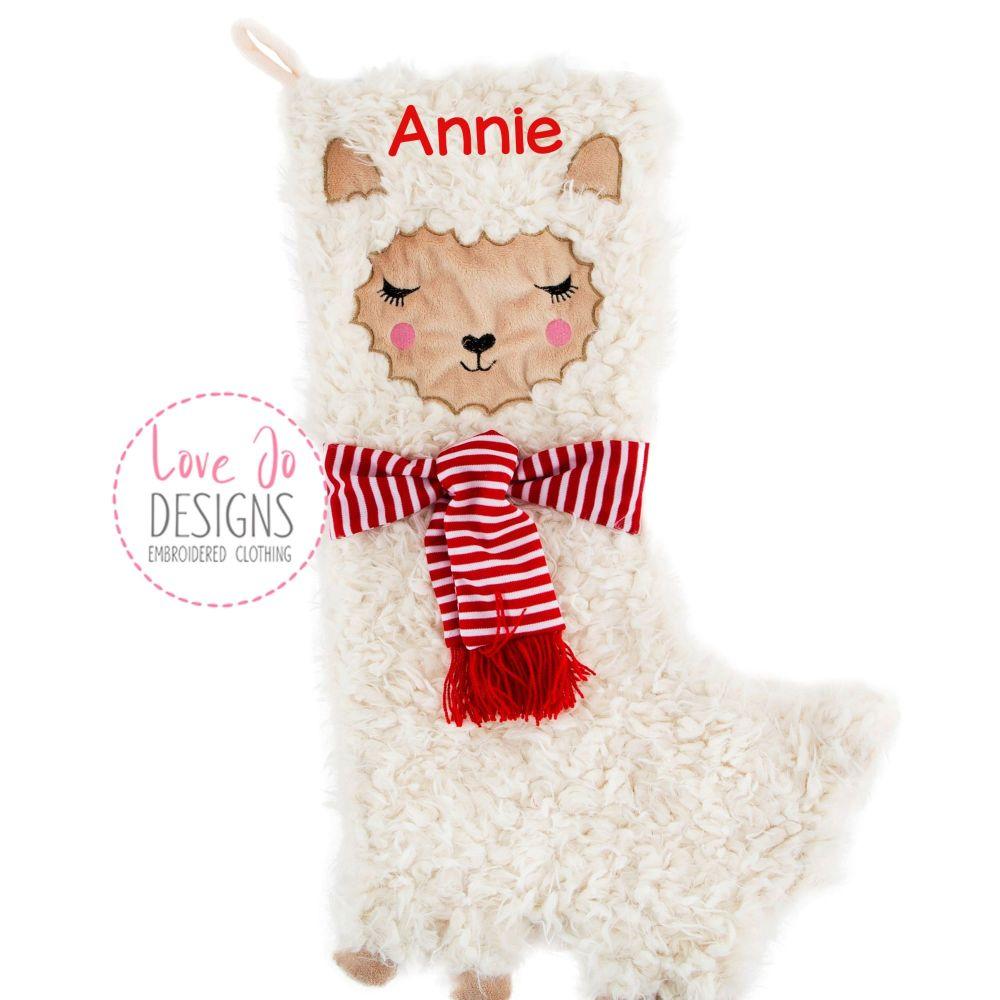 <!-- 001 -->  Luxury Fluffy Llama Stocking