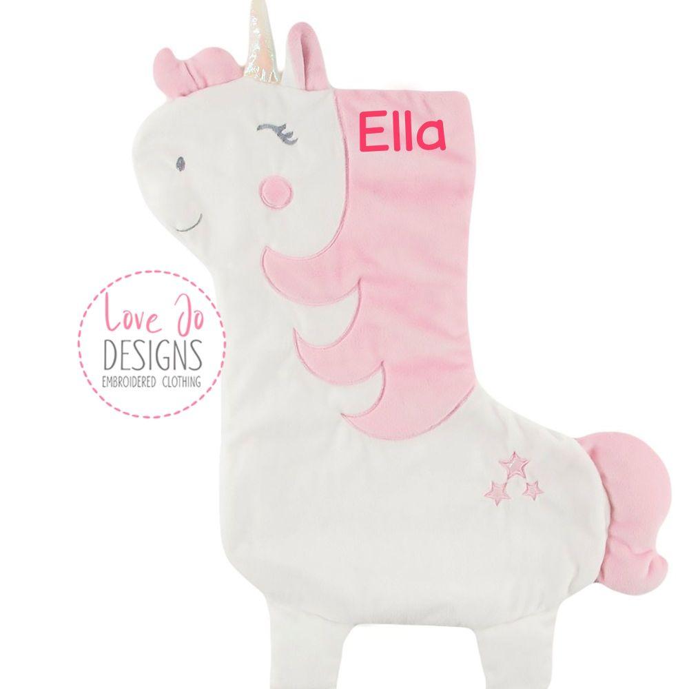 <!-- 001 -->  Unicorn Christmas Stocking