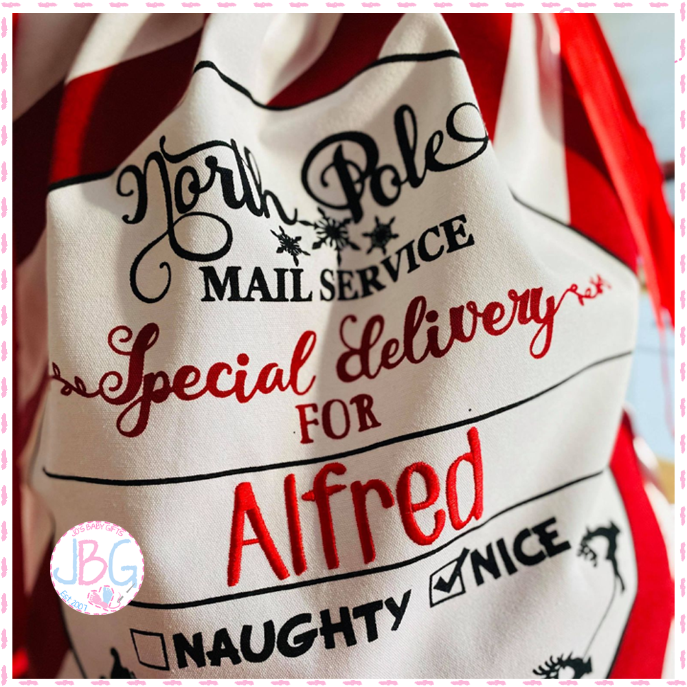 <!-- 001 -->  Special Delivery Personalised Sack