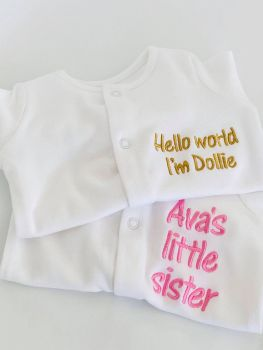 Personalised - Any Text - Sleepsuit