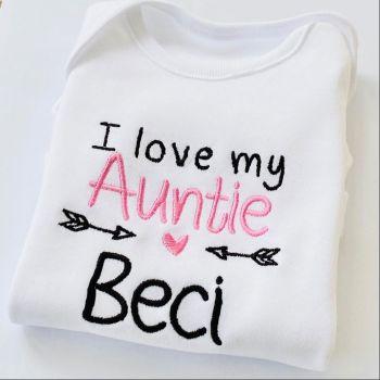 I love my Auntie - Personalised Baby Girls Vest