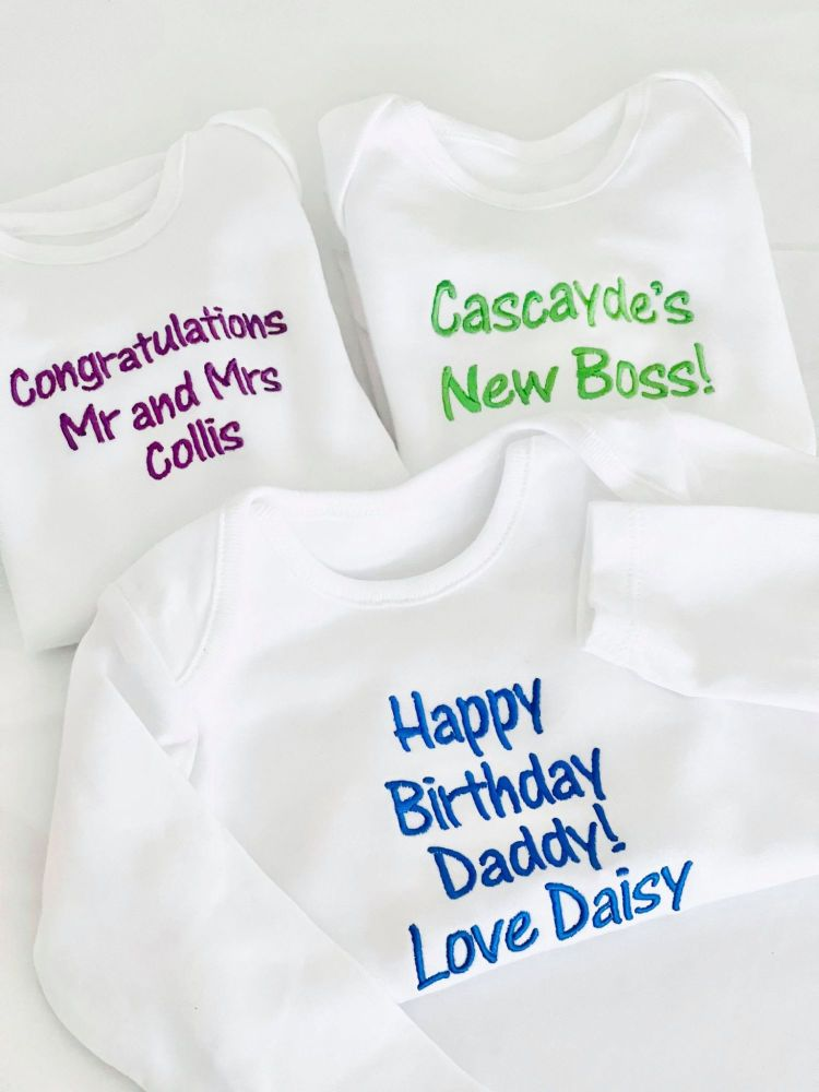 .Personalised - Any Text - Long Sleeve Vest