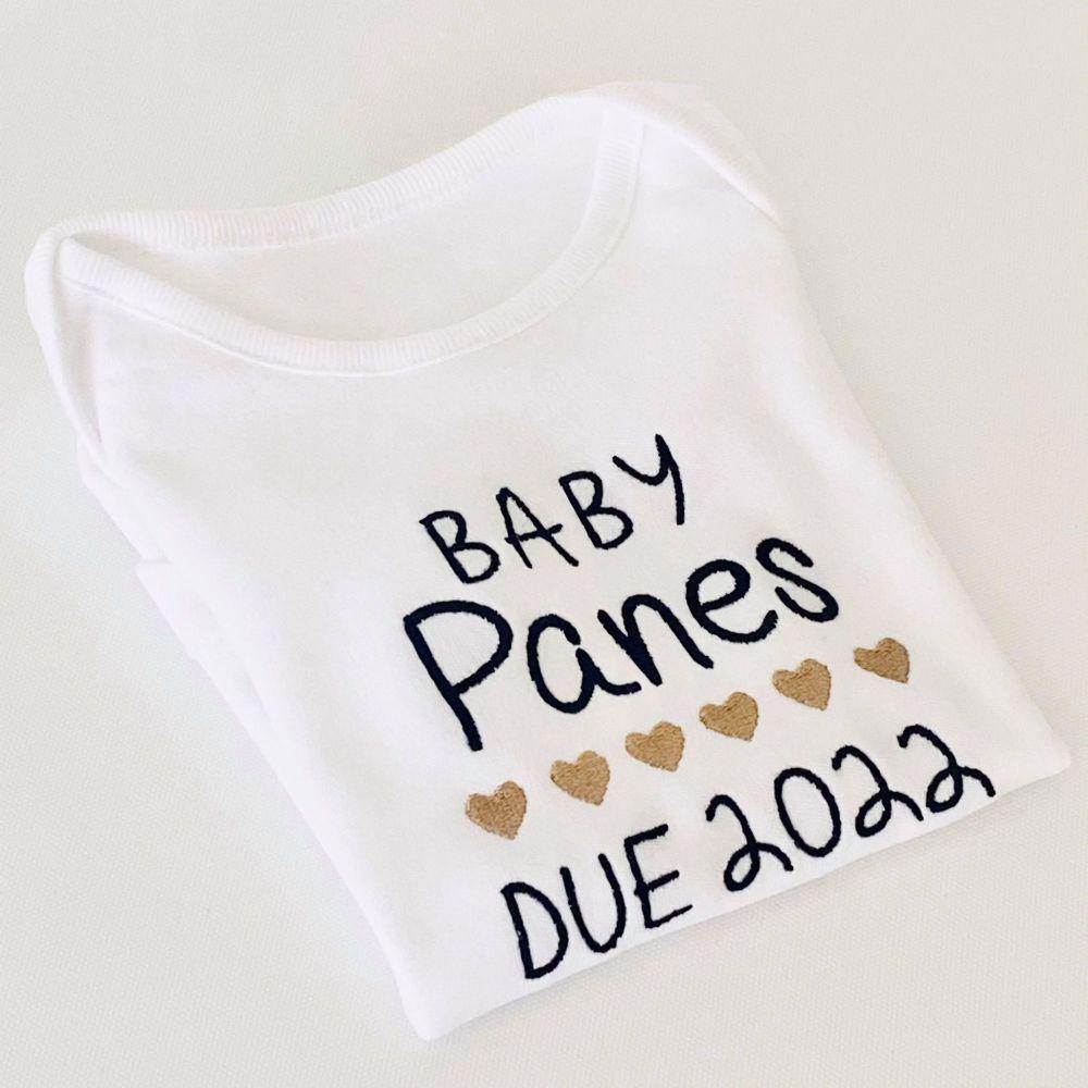 Birth Announcement Due 2022 Baby Vest