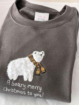 Polar Bear - Embroidered Christmas Jumper