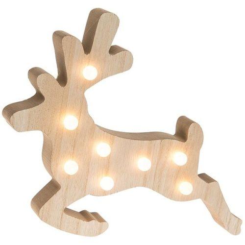 Soft Glow Wooden reindeer