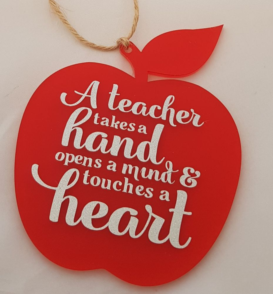 Teachers Hanging Apple