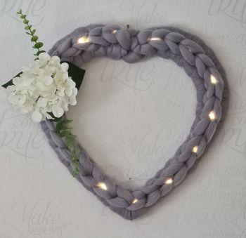 White hydrangea Flower Heart Wreath