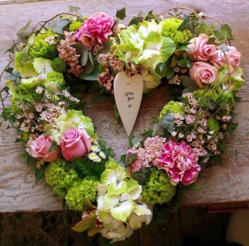 Open Heart Wreath