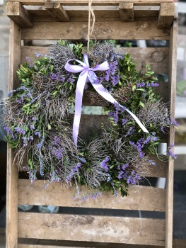 Lavinia Lavender Door Wreath