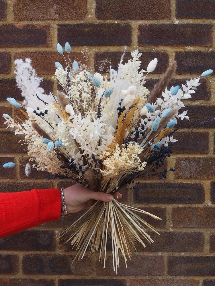 Summer Sky Dried Flower Arrangement