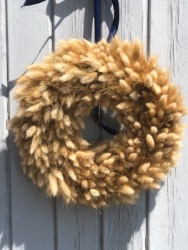 30cm Natural Bunny Tail Wreath