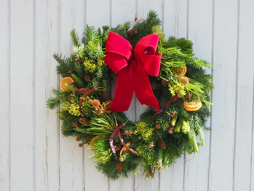Arya Christmas Wreath (Deposit)