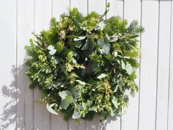 Christa Door Wreath