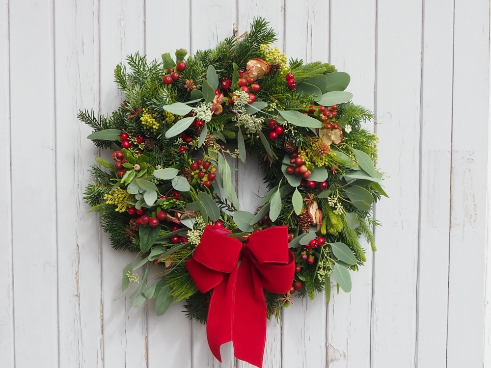 Juniper Christmas Wreath (Deposit)