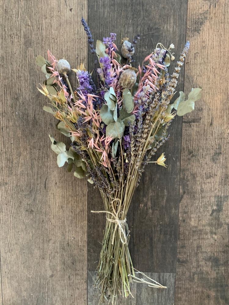 Late Summer Dried Flower Arrangement