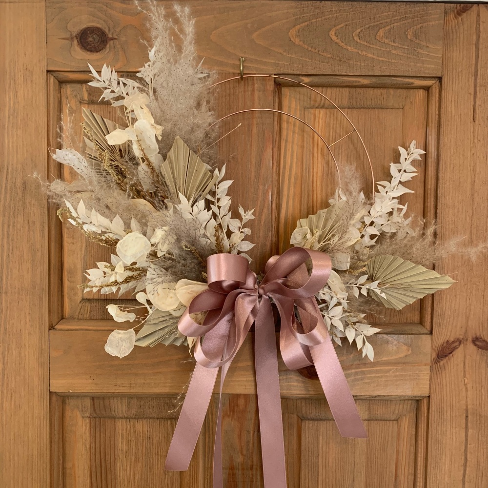 Misty Morning Dried Flower Wreath