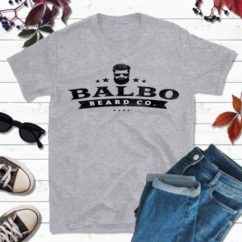 Balbo Beard Co Grey T-Shirt (Large Logo)