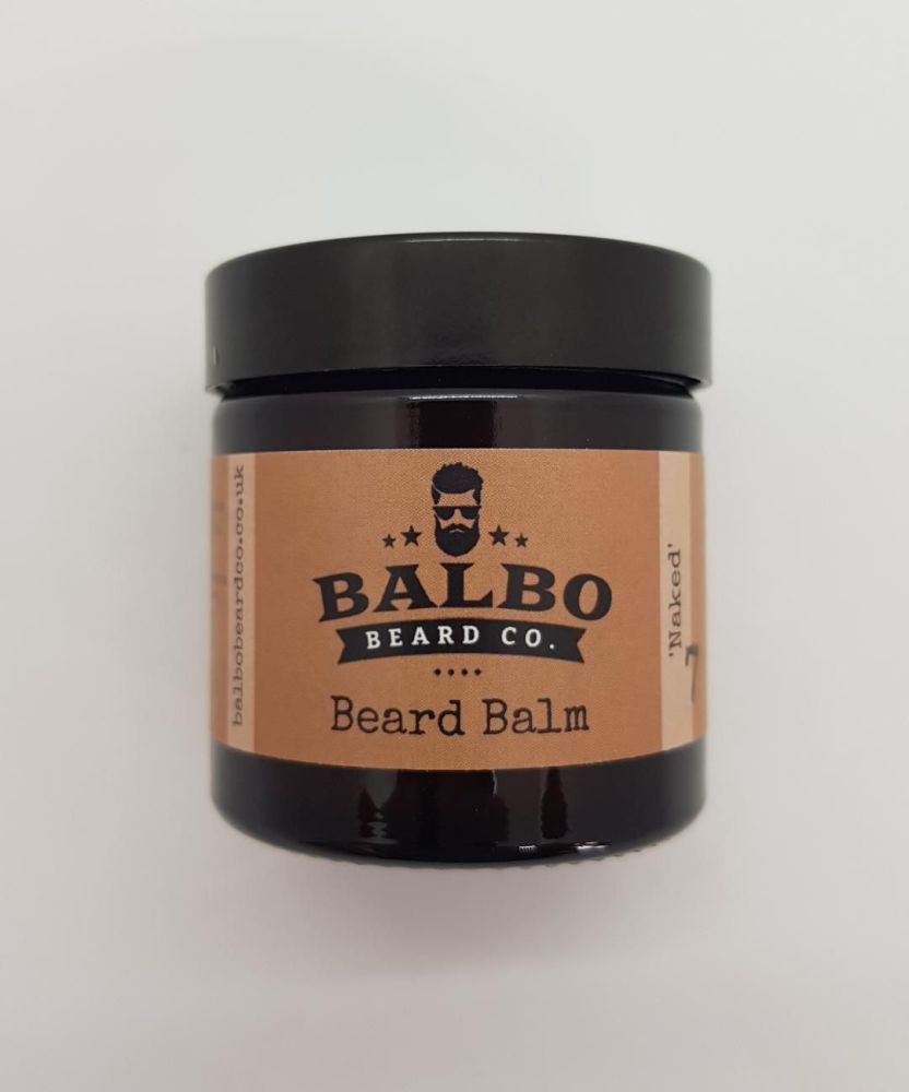 #7 Naked (Fragrance Free) Beard Balm (15ml or 60ml Jars)