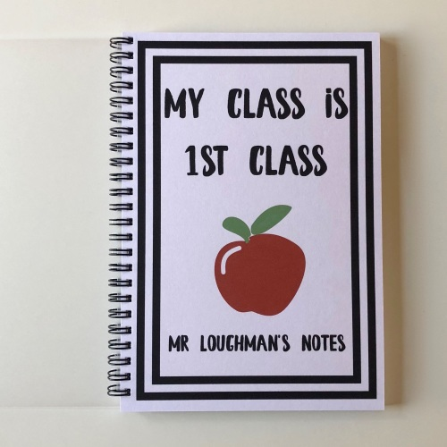Teachers notebook (apple) block font