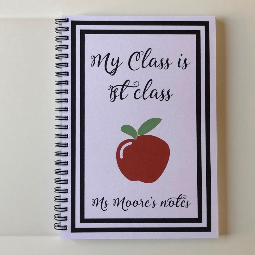 Teachers notebook (apple) cursive font