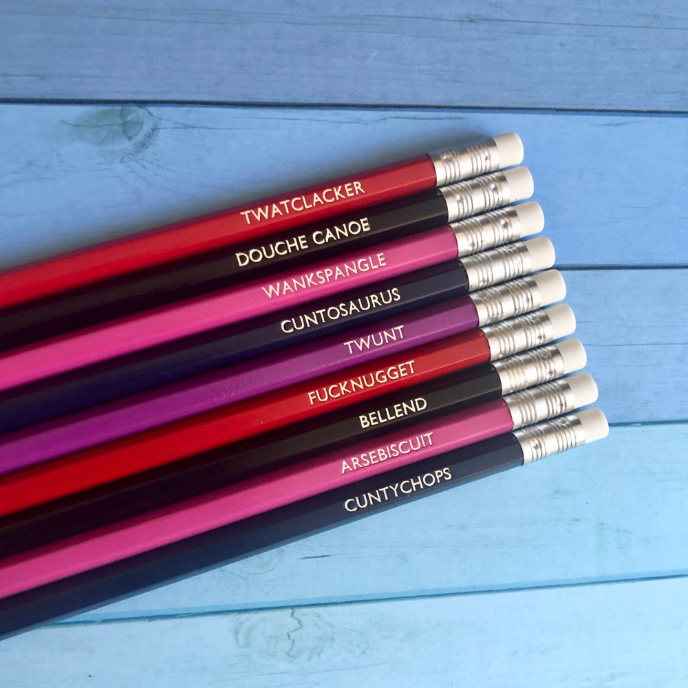 <!-- 004 -->Profanity Pencils - version II (set of 9)